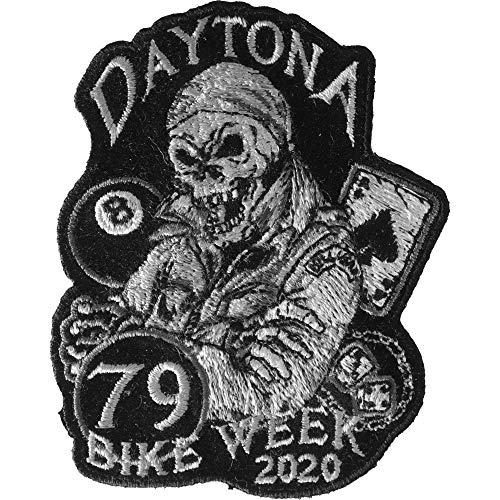 Daytona Bike Week 2020 Patch - 3x3.5 inch - Embroidered Iron on Patch