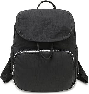 mini black canvas backpack