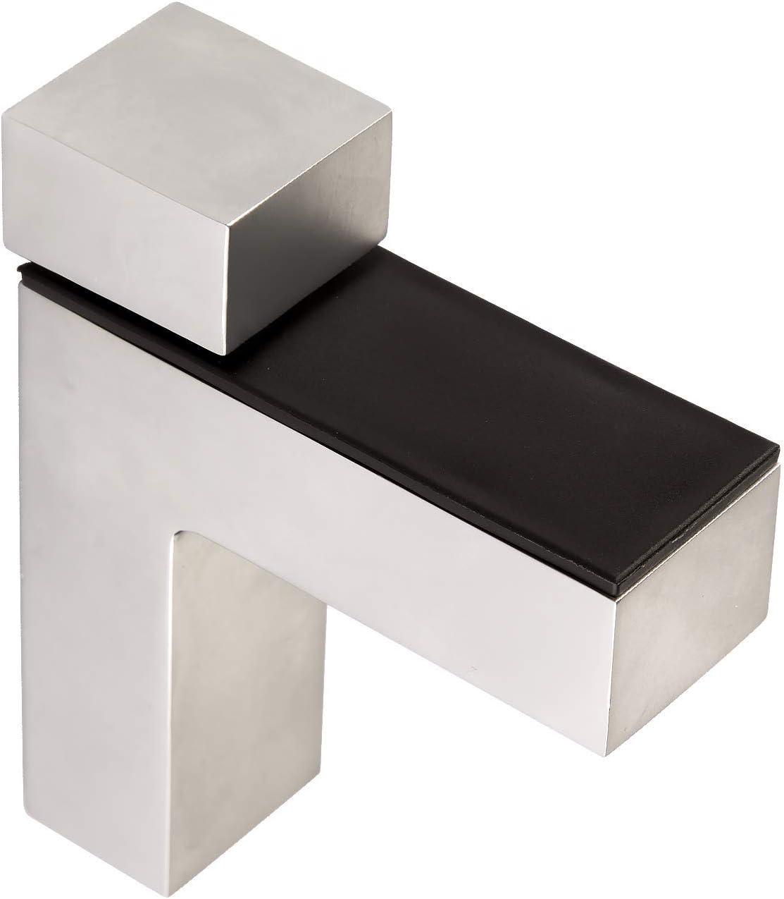 4 piezas x SO-TECH® Soporte para Estantería HULK Acabado Acero Inox para Estantería de Cristal o Madera Espesor max. 45 mm