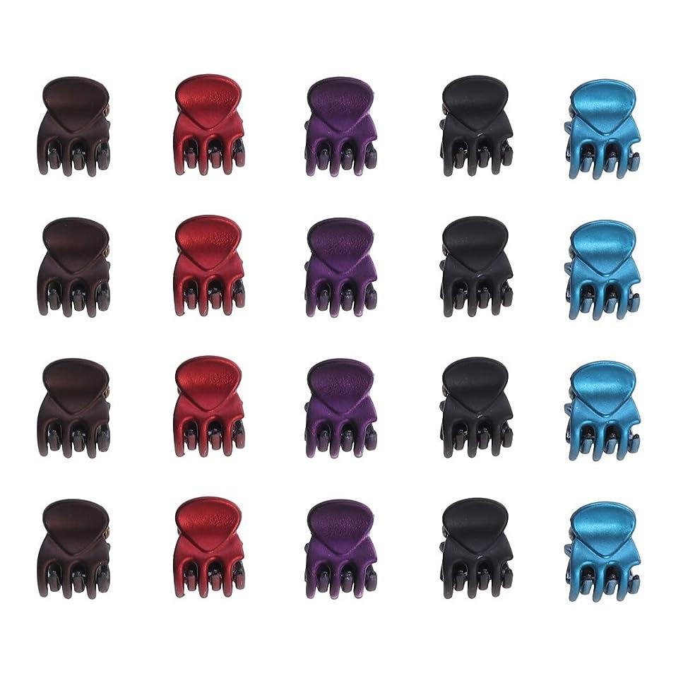 ビル民間人のれん24本ミニ真珠光沢のある顎クリップタコクリップのヘアクリッププラスチック製の髪の毛のピンピンは、女の子と女性のためのヘアピンプラスチック製のヘッドウェアのヘアアクセサリー(真珠のパターン)