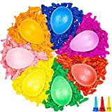 Water Balloons Instant Balloons Self-Sealing Quick Fill Balloons with Splash Fun Rapid-Filling for Kids and Adults Party Swimming Pool Outdoor With 3 Water Injection Hole-100PCS