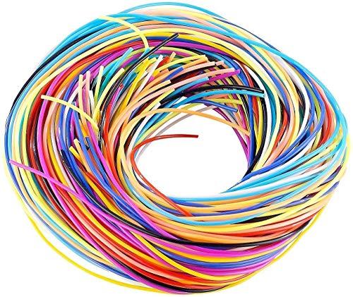 WEB2O Scoubidou Bastelset mit 100 Knüpfbändern in 10 Farben