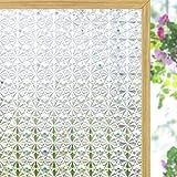 Coavas Película de privacidad para ventana, caleidoscopio de vidrio, pegatinas para ventana esmeriladas, adhesivo opaco para ventana de cocina, baño y hogar, 44 x 200 cm