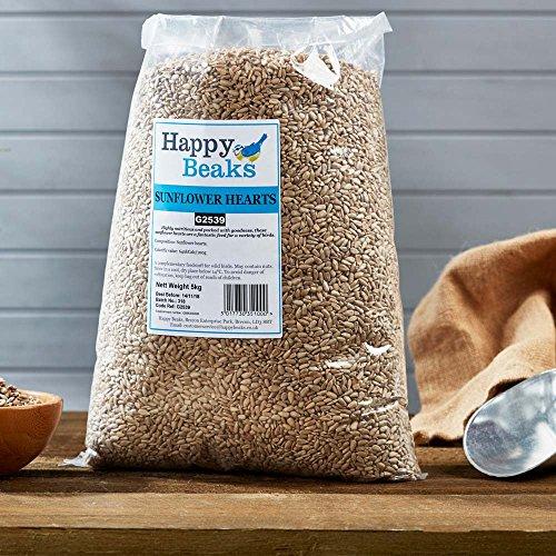 Happy Beaks Sunflower Seed Hearts Wild Bird Food (12.75kg) No Mess High...