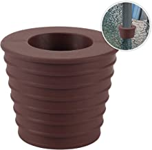 Umbrella Cone Wedge for Patio Table Hole Opening or Parasol Base Stand 1.9 to 2.7 Inch Umbrella Pole Diameter 1 1/2 Inch (Dark Brown)