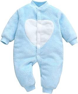 Carolilly Newborn Baby Romper Summer Baby Bodysuit Newborn Heart//Leopard Print Romper Newborn Short Sleeve