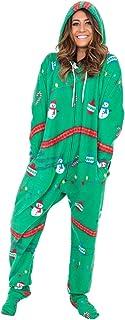Costume Agent フード付き雪だるまとライトクリスマスパジャマ?ユニオンスーツ X-Lサイズ
