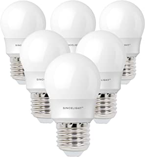 E27 LED P45 Golf Ball Light Bulb, Frosted, 5 Watt, Netrual White 4000K, 520 Lumens, 50W Equivalent, Non-Dimmable, ES Ediso...
