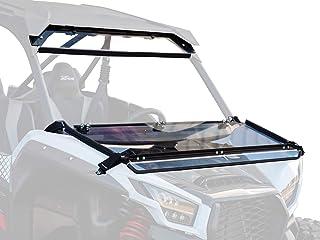SuperATV Scratch Resistant Flip Down Windshield for Kawasaki Teryx KRX 1000 (2020+) - 2 Windshields in 1!