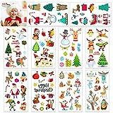 HOWAF 110pcs Noël Tatouages Temporaires pour Enfants, Tatouages ephémères Enfant, pour Filles garçons Enfants Sac De Noël Anniversaire Cadeau Pinata