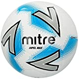 Mitre Impel Max Ballon de Football Mixte Adulte, Blanc/Argent/Bleu, Taille 3