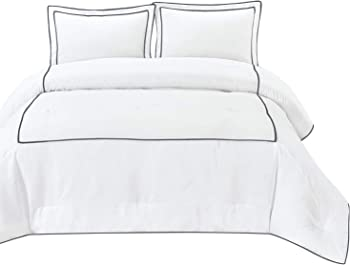 3 Piece Honeymoon Home Fashions Queen Comforter Set