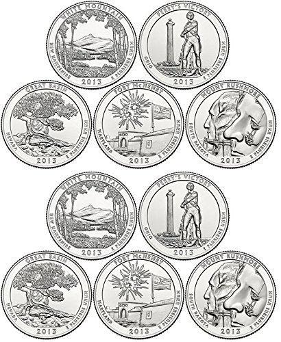 2013 Various Mint Marks National Parks Set P & D Mints (10 Coins) Uncirculated