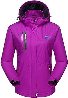 MAGCOMSEN Women's Lightweight Sportswear Hiking Water Resistant Jacket Softshell Hooded Raincoats Outerwear