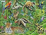 Larsen FH10 La exuberante Selva Tropical sudamericana, Puzzle de Marco con 70 Piezas