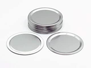 THINKCHANCES Rust Resistant Reusable Silver Aluminum Airtight Flat Sealing Lids for Ball Transformer Mason Canning Jars (1...