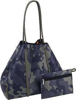 PJRYC Mode Frauen wasserdichte Neopren Handtasche Freizeit Strand Handtasche Große Kapazität Strandtasche Messenger Bag (C...