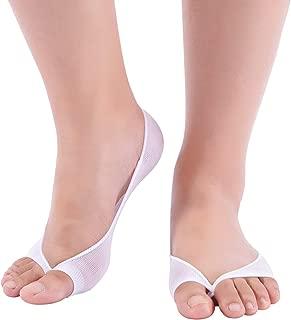 Women's Low Cut Peep Toe Liner Socks Truly No Show Toeless Socks with Non-slip Heel Grip, 3 pairs