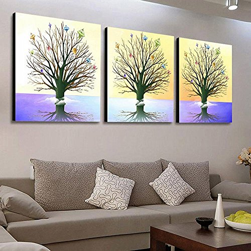 SCD Sala de Estar Moderna Simple Pastoral Paisaje Pared Pintura Oficina Pintura Triple Cristal...