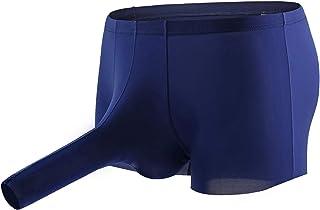 kangmoon silk boxers mens breathable underwear u-shaped ice silk comfortable underwear for men