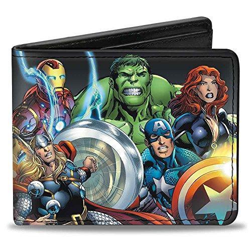 Billetera para hombre Marvel Universe Avengers Group Pose Bi-Fold, Multi, talla única
