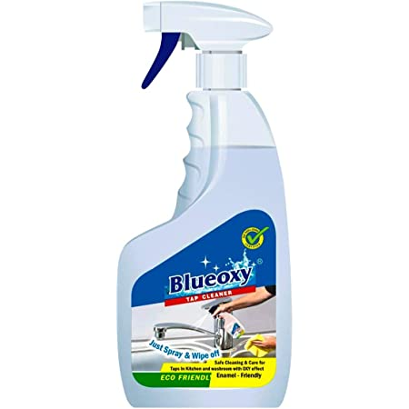 Herbo Pest BlueOxy 500ml Tap Cleaner | The Expert Hard Water | soap scum | Lime Scale Stain Remover Best basins | Sinks | faucets |fixtures | Bath tubs | Shower Glasses | Remove Tough Stains