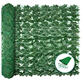 "LONGADS 39"" x 118"" Artificial Faux Ivy Leaf Fence with 100 x Zip"