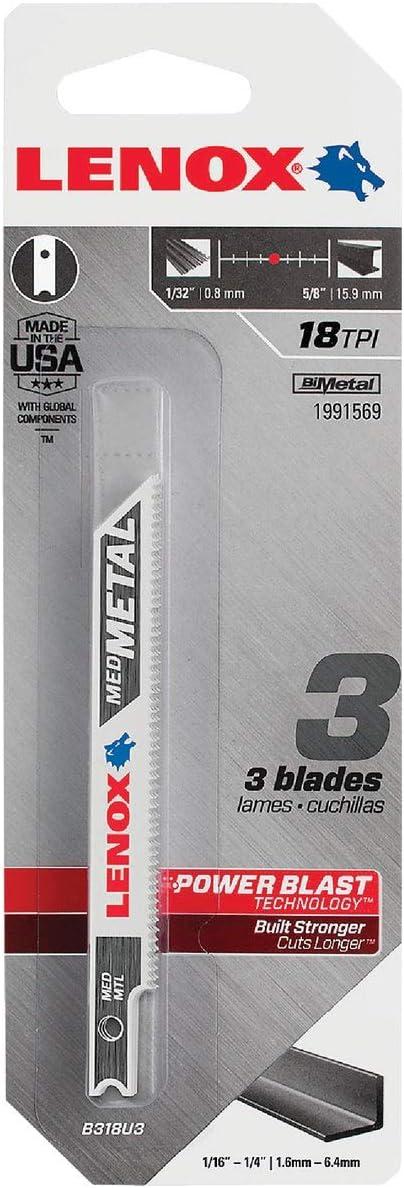 Popular overseas LENOX Tools Purchase 1991569 U-Shank Medium Metal Saw Blade Cutting Jig
