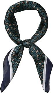 Allegra K 70cm Animal Leopard Print Silk Like Square Scarves Kerchief Neck Head Scarf Neckerchief Bandana