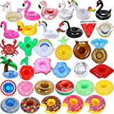 Inflatable Drink Holder 35 Pack Inflatable Drink Floats Floating Cup Holders Fun Drink Floaties for Swimming Pool Party