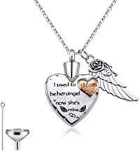 Cat Eye Jewels Stainless Steel Memorial Heart Urn Keepsake Pendant Necklaces for Ashes for Men Women with Funnel Kit