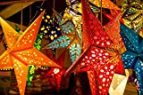 Unique Arts & Interiors Paper Multicolored Hanging Star Shaped Lantern (Multi_66 x 66 cm)