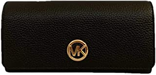 Michael Kors Fulton Flap Continental Carryall Clutch Wallet Purse in Black