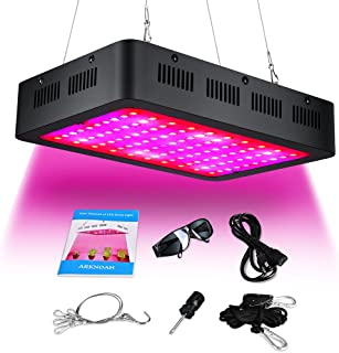 ARKNOAH 1000w Growing Lamp Full Spectrum with Double Chips 10W Growing Bulbs for Greenhouse Hydroponic Indoor Plants Growing in Grow Tent (Black)