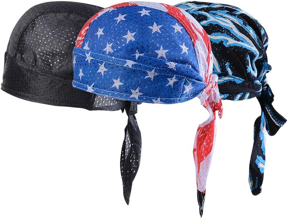 Shujin Unisex 3 St/ücke Set Bandana Cap Outdoor Sport Fahrrad atmungsaktiv Hat Kopftuch Kopfband Quick-Dry Biker Bandanas Radfahren Kopftuch