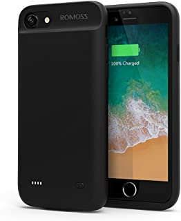 iPhone 7 Battery Case, ROMOSS 2800mAh Portable Charger Case Rechargeable Extended Battery Pack Protective Backup Charging Case Cover for Apple iPhone 7 Battery Case (4.7 Inch) –Black