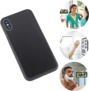 Omio for iPhone Xs Max Antigravity Case Ultra Thin Magical Nano Sticky Technology Protective Cover for iPhone Xs Max Case Soft Dirtproof Anti-Slip Anti-Scratch Shell for iPhone Xs Max Case Black
