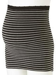 ほんわりあったか ストレッチ素材の妊婦帯 (ブラック,M)