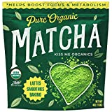 Kiss Me Organics Matcha Green Tea Powder - Organic Japanese Culinary Grade Matcha - 4 ounces (113...