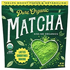 This 4oz bag of authentic 100% certified organic Japanese Matcha green tea powder is perfect for Lattes, Smoothies, Whipped Drinks & Baking recipes! The all natural, unsweetened, grassy and slightly bitter flavor lets you know that it's the good stuf...