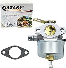 QAZAKY Adjustable Carburetor Replacement for Tecumseh 632107 632378 632536 640084 640105 640299 632107A 632378A 640084A 640084B 640299A 640299B 3.5HP 4HP 5HP HSK40 HSK50 HSSK40 HSSK50 HSSK55 LH195SA