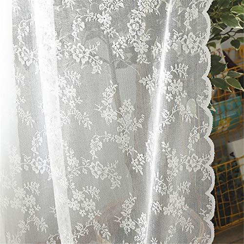 Bumpy Road Cortinas Transparentes de Encaje Blanco Europeo para Sala de Estar Dormitorio Ventana Cortinas de Tul Cortinas decoración del hogar