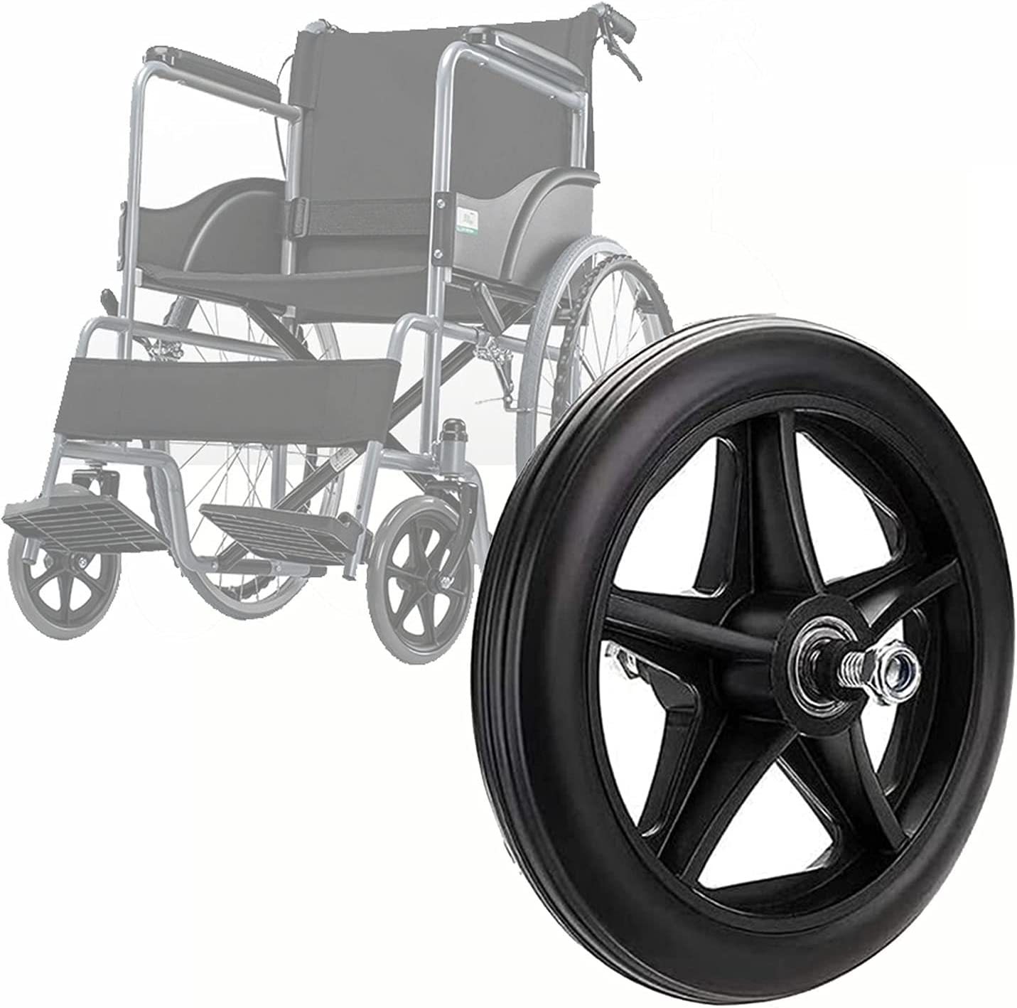 ASDFGHJ Black Wheelchair Front Wheels, Replacing The Caster Whee