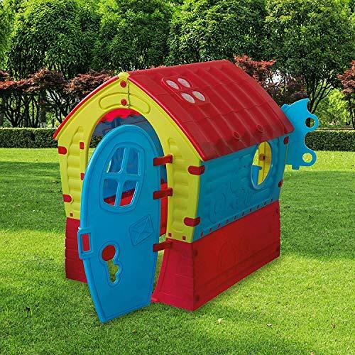 casetta da giardino per bambini casetta per bambini grande casetta per bambini per esterno classica Casetta per Bambini Casa Gioco Tradizionale Grande 95X90X110H