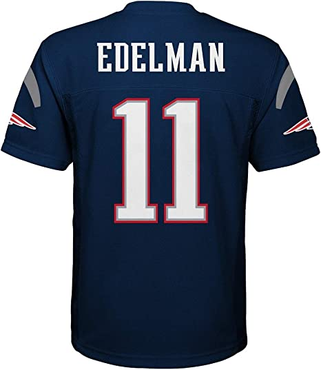 Outerstuff Julian Edelman New England Patriots Navy Blue Youth Mid Tier Home Jersey