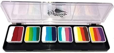 Kryvaline Split Cake Palette 6g Each for One Stroke Rainbow Cake Face Painting Beginners