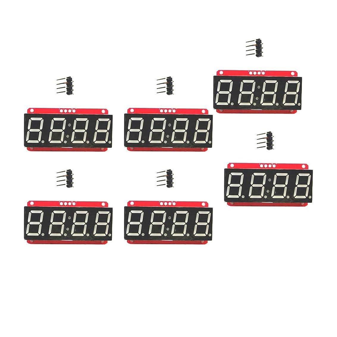 クライアント音声学サーマルArduino用 6個 LEDセグメント表示器 4桁 LEDモジュール HT16K33 I2C