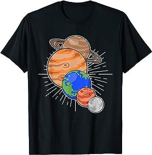 Astronomie Planètes Science Spatial Univers Système Solaire T-Shirt
