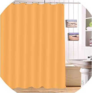 Drem-Wardrobe 180200 Waterproof Solid Red Pure Shower Curtains Polyester Print Bathroom Screens Curtain Fabric for Girl Bathtub Home Decor,Curtain-7127,150180cm