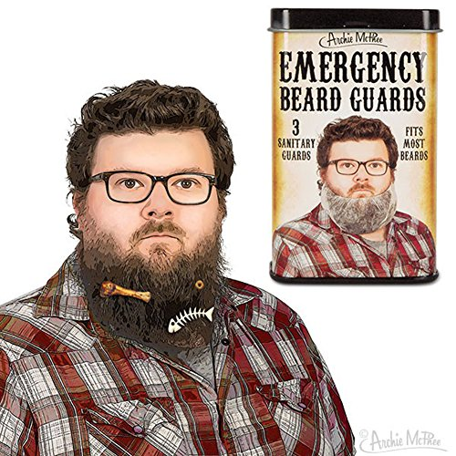 Archie McPhee Emergency Beard Guards by Archie McPhee